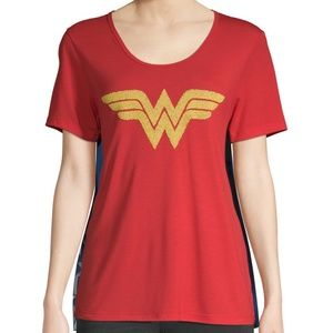 Wonder Woman Tshirt Tee Cape Cosplay Costume Shirt